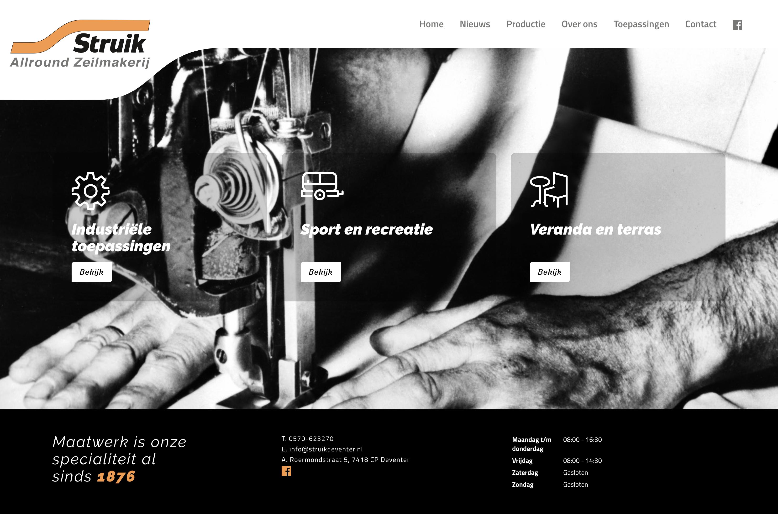 Nieuwe website Struik Allround Zeilmakerij -