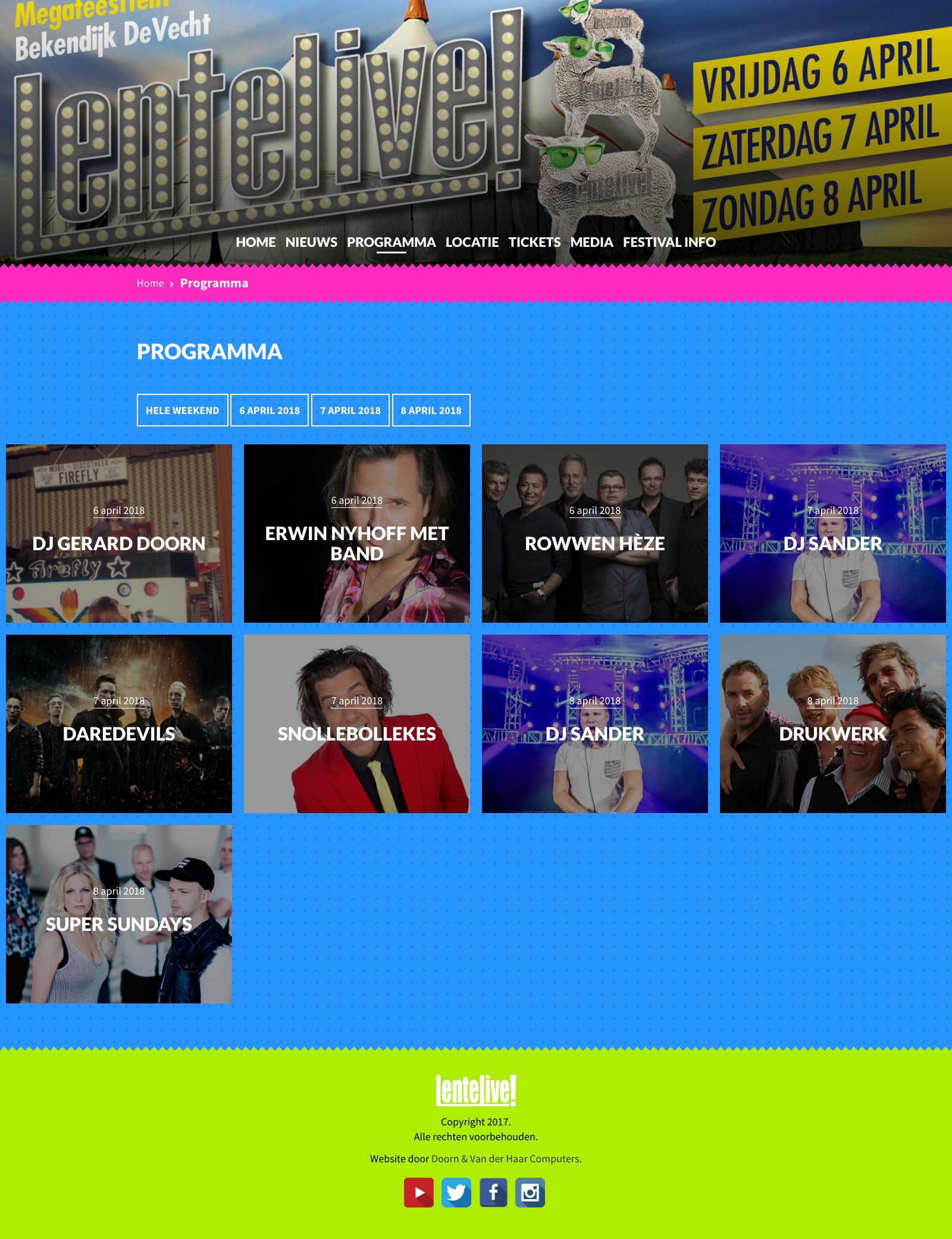 Nieuwe website voor LenteLive!